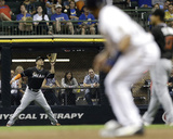 Miami Marlins v Milwaukee Brewers Photo by Mike McGinnis