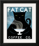 Cat Coffee Framed Giclee Print by Ryan Fowler