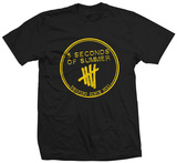 5 Seconds of Summer - Yellow Derping Stamp Tee T-shirts