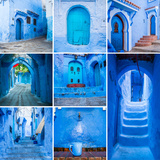 Chefchaouen Collage Photographic Print by  sabino parente