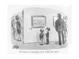 """Van Gogh was a good painter, but he couldn't draw trains."" - New Yorker Cartoon Premium Giclee Print by Warren Miller"