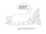 Roget's Brontosaurus. - New Yorker Cartoon Premium Giclee Print by Mick Stevens