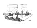 """General Hoskins, I don't care if you are in charge of our star-wars defen…"" - New Yorker Cartoon Regular Giclee Print by Dana Fradon"