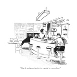 """Hey, do we have strawberries crushed in cream cheese"" - New Yorker Cartoon Premium Giclee Print by James Stevenson"