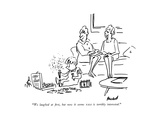 """We laughed at rst, but now it seems NASA is terribly interested."" - New Yorker Cartoon Premium Giclee Print by Frank Modell"