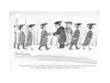 """Congratulations. Please remember the college's ?nancial plight. Congratul…"" - New Yorker Cartoon Premium Giclee Print by Mort Gerberg"