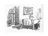 New Yorker Cartoon Premium Giclee Print by Dana Fradon