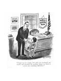 """""""Thank you for coming. The talks were forthright and useful, and provided …"""" - New Yorker Cartoon Premium Giclee Print by Barney Tobey"""