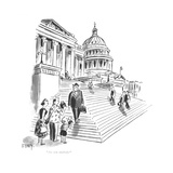 """""""Are you anybody?"""" - New Yorker Cartoon Premium Giclee Print by Barney Tobey"""