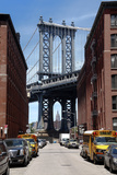 Empire State Building Underneath Brooklyn Bridge from DUMBO, Brooklyn Photographie