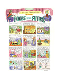 'Foods Of The Future' - Cartoon Premium Giclee Print by Roz Chast