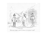 """Did anyone happen to nd an earring on the beginners' slope"" - New Yorker Cartoon Premium Giclee Print by Edward Frascino"
