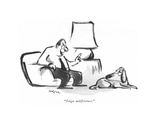 """Feign indifference."" - New Yorker Cartoon Premium Giclee Print by Lee Lorenz"