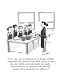"""O.K., class, next we'll pound out the dough until that ungrateful, self-c…"" - New Yorker Cartoon Premium Giclee Print by Drew Panckeri"