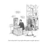 """Can I call you back?  I've got eight million people in my office right no - New Yorker Cartoon Premium Giclee Print by Tom Cheney"