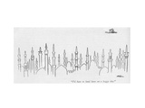 """I'd hate to land here on a foggy day."" - New Yorker Cartoon Premium Giclee Print by  Alain"