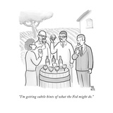 """I'm getting subtle hints of what the Fed might do."" - New Yorker Cartoon Premium Giclee Print by Paul Noth"