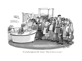 """It's finally happened, Mr. Cramer. 'They' are here to see you."" - New Yorker Cartoon Regular Giclee Print by Dana Fradon"