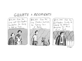 'Grants & Recipients' - New Yorker Cartoon Premium Giclee Print by Roz Chast