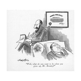 """Well, what do you want to be when you grow up, Mr. Bromley"" - New Yorker Cartoon Premium Giclee Print by Henry Martin"
