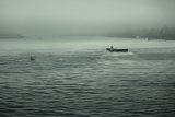 Eerie Look at Boats on the Hudson River in NYC Prints