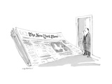 New Yorker Cartoon Premium Giclee Print by James Stevenson