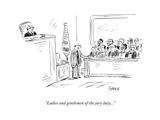 New Yorker Cartoon Premium Giclee Print by David Sipress