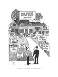 """""""Frankly, we're just keeping our heads above water."""" - New Yorker Cartoon Premium Giclee Print by Joseph Farris"""