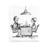 """Wow, sweetheart, this sure packs a hefty nutritional wallop!"" - New Yorker Cartoon Premium Giclee Print by Lee Lorenz"