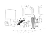 """No one could claim that Judge Walker doesn't approach these obscenity hea…"" - New Yorker Cartoon Premium Giclee Print by James Stevenson"
