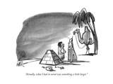 """Actually, what I had in mind was something a little larger."" - New Yorker Cartoon Premium Giclee Print by Robert Weber"