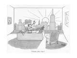 """Thanks, baby. Ciao."" - New Yorker Cartoon Premium Giclee Print by Jack Ziegler"