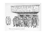 """""""Watch out. The cognoscenti are not pleased."""" - New Yorker Cartoon Regular Giclee Print by Edward Koren"""