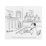 """We nd the defendant innocent but extremely irritating."" - New Yorker Cartoon Giclee Print by Frank Modell"