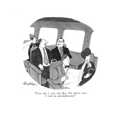 """Your tale is very sad, Ben. I'm almost sorry I took an anti-depressant."" - New Yorker Cartoon Premium Giclee Print by J.B. Handelsman"