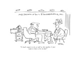 """I don't expect to do as well as the market. I just want to have a lot of …"" - New Yorker Cartoon Premium Giclee Print by Dean Vietor"