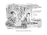 """You know what I love? Butcher block.""One butcher to another in butcher s - New Yorker Cartoon Premium Giclee Print by James Stevenson"