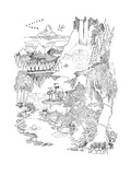 New Yorker Cartoon Premium Giclee Print by Richard Oldden
