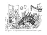 """I'm afraid I made quite a nuisance of myself in here last night."" - New Yorker Cartoon Premium Giclee Print by Robert Leighton"