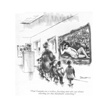"""""""Paul Gauguin was a restless, brooding man who was always searching for th…"""" - New Yorker Cartoon Premium Giclee Print by Charles Saxon"""