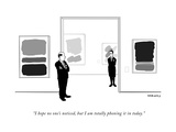 """""""I hope no one's noticed, but I am totally phoning it in today."""" - New Yorker Cartoon Premium Giclee Print by Alex Gregory"""