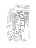 """""""But does it ever get that cold"""" - New Yorker Cartoon Regular Giclee Print by George Price"""