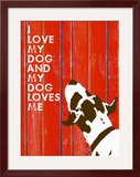 Love My Dog 3 Framed Giclee Print by Lisa Weedn