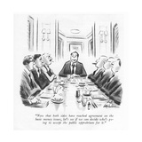 """Now that both sides have reached agreement on the basic money issues, let…"" - New Yorker Cartoon Premium Giclee Print by Ed Fisher"
