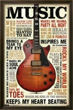 Music Inspires Me Posters
