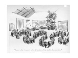 """I guess what it means is we're all members of the stand-in-line generatio - New Yorker Cartoon Premium Giclee Print by Lee Lorenz"