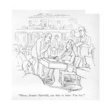 """Please, Senator Fairchild, you have to leave. You lost."" - New Yorker Cartoon Premium Giclee Print by Charles Sauers"