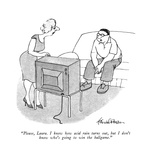 """Please, Laura. I know how acid rain turns out, but I don't know who's goi…"" - New Yorker Cartoon Premium Giclee Print by J.B. Handelsman"