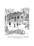 """The great thing about this place is that it's far enough from Lenox so th…"" - New Yorker Cartoon Premium Giclee Print by J.B. Handelsman"