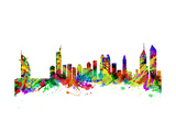 Dubai City Skyline Silhouette Art by  chris2766
